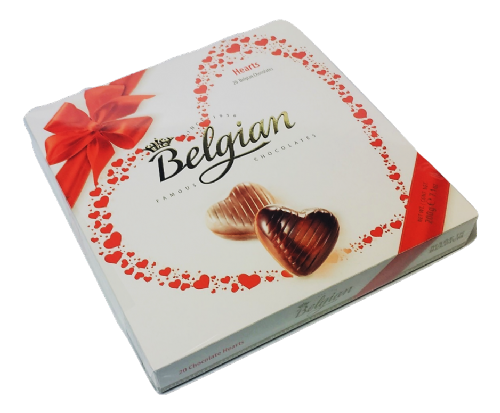 400442  BELGIAN CHOCOLATE HEARTS  12 x200G